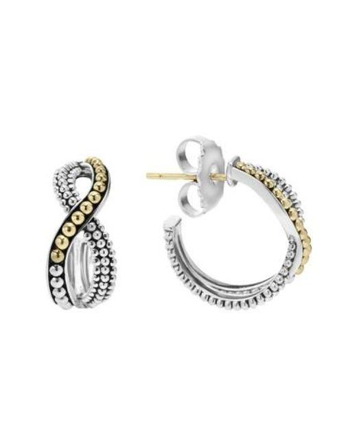 Lagos | Metallic Infinity Double Twist Hoop Earrings | Lyst