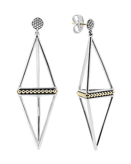 Lagos | Metallic 'ksl' Pyramid Drop Earrings | Lyst