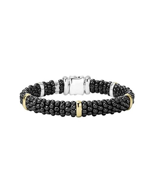 Lagos | 'black Caviar' Rope Bracelet | Lyst