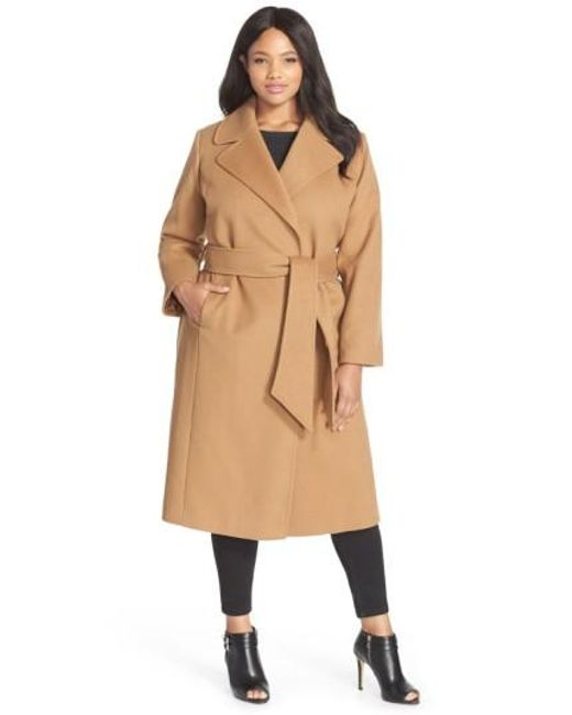 George Simonton | Natural Couture 'hollywood' Long Wrap Coat | Lyst