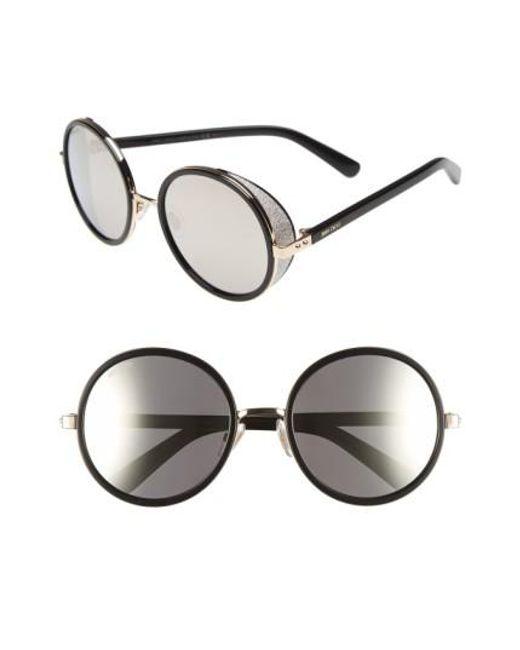 Jimmy Choo | Black 'andies' 54mm Round Sunglasses | Lyst