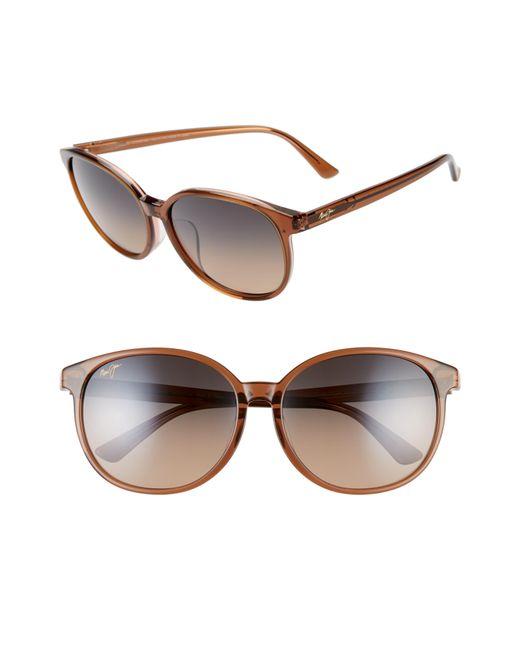 Maui Jim Water Lily 62mm Polarizedplus2 Round Sunglasses Caramel W Pink Hcl Bronze Lyst