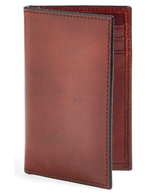 Bosca Brown Old Leather Card Case for men