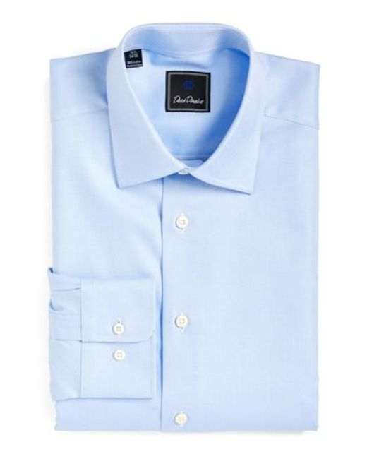 David Donahue | Blue Regular Fit Oxford Dress Shirt for Men | Lyst