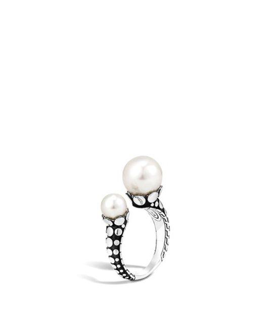 John Hardy | Metallic 'dot' Pearl Ring | Lyst