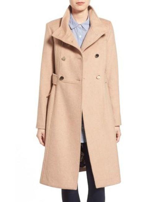 Eliza J | Natural Wool-Blend Military Coat | Lyst