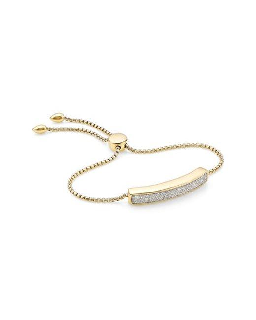 Monica Vinader | Metallic 'baja' Stone Bracelet | Lyst