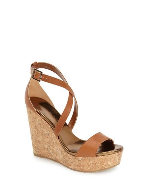 Jimmy Choo | Metallic 'portia' Platform Wedge | Lyst
