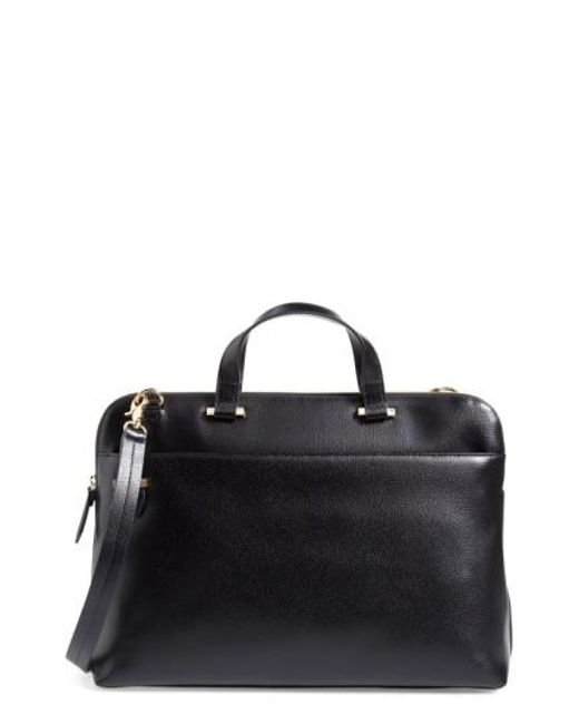 Lodis | Black Medium Jamie Rfid Leather Briefcase | Lyst