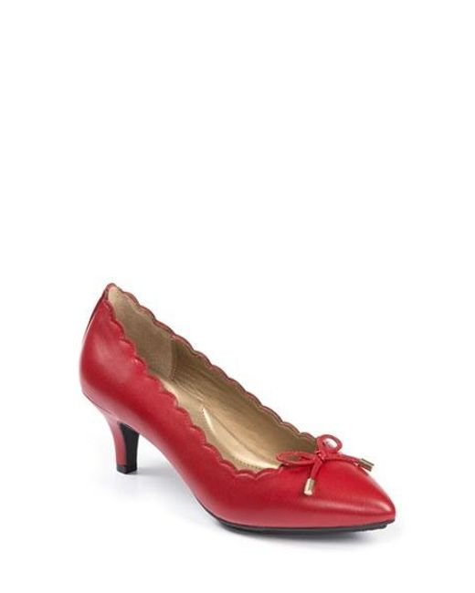 Me Too   Red 'caprice' Pump   Lyst