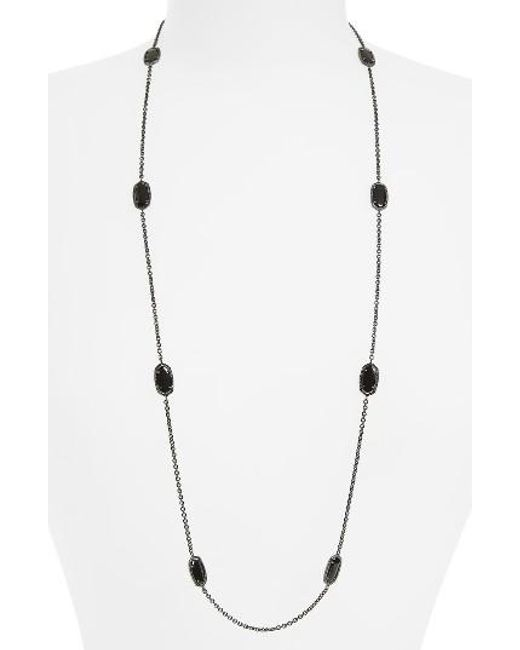 Kendra Scott | Metallic 'kelsie' Station Necklace | Lyst