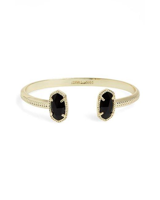 Kendra Scott | Black 'elton' Station Cuff Bracelet | Lyst