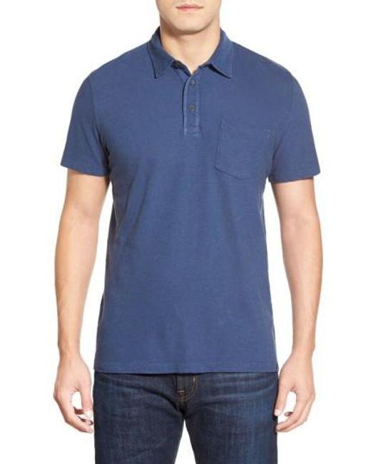 AG Jeans | Blue Cliff Pique Polo Shirt for Men | Lyst