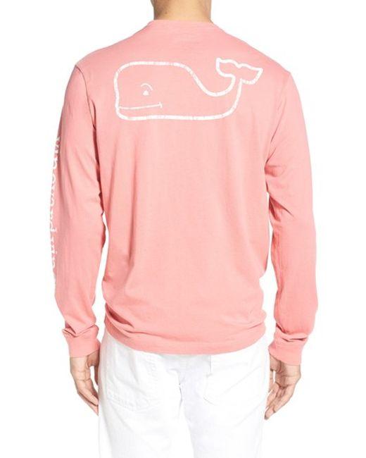Vineyard vines Pocket Long Sleeve T-shirt in Pink for Men ...