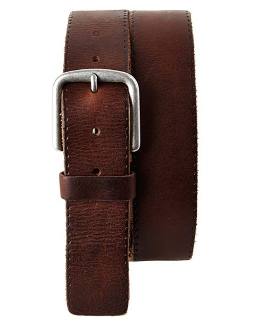 Trafalgar | Brown 'winslow' Leather Belt for Men | Lyst