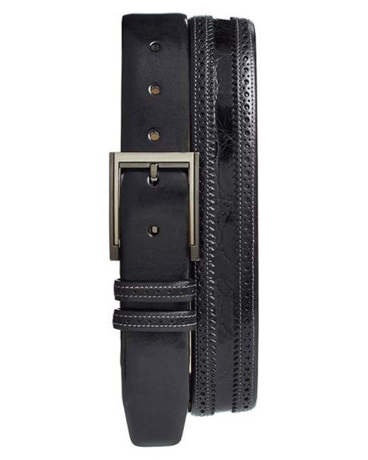 Mezlan | Black 'diver' Crocodile Leather Belt for Men | Lyst
