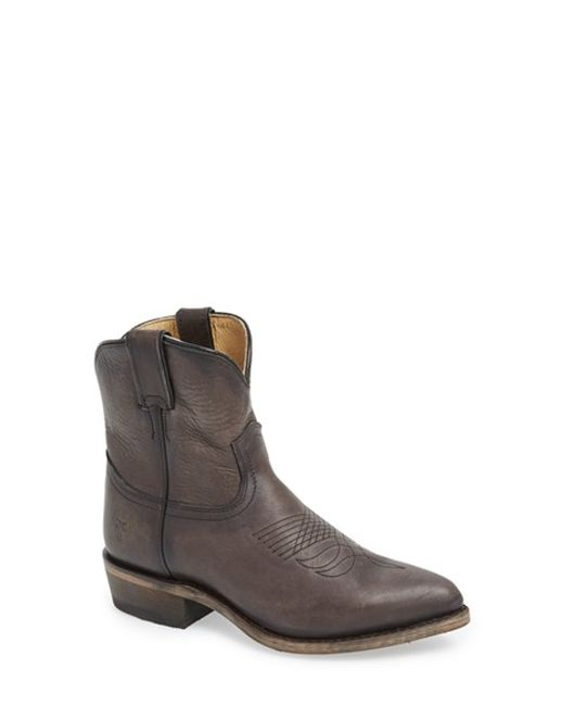 Frye | Gray 'billy Short' Pointy Toe Boot | Lyst