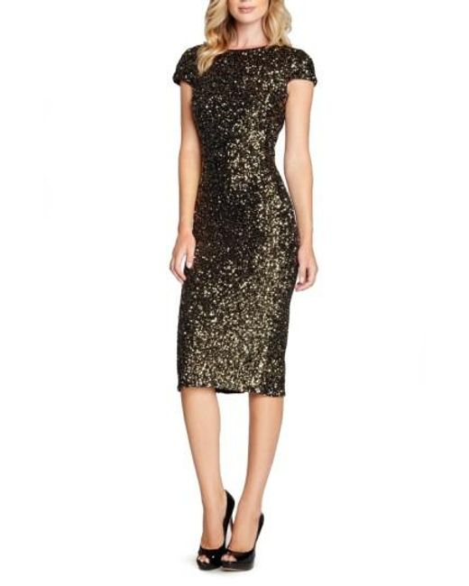 Dress the Population | Metallic 'marcella' Open Back Sequin Body-con Dress | Lyst