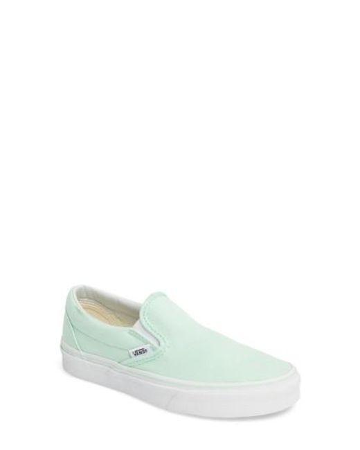 Vans   White Classic Slip-on Sneaker   Lyst