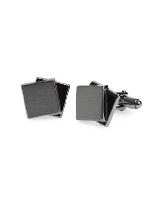 Lanvin | Metallic Dual Plaques Cuff Links | Lyst