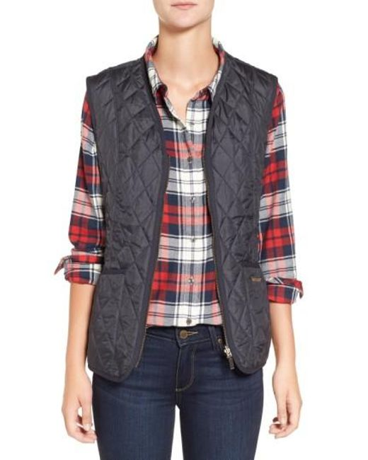 Barbour   Blue 'beadnell' Quilted Liner   Lyst