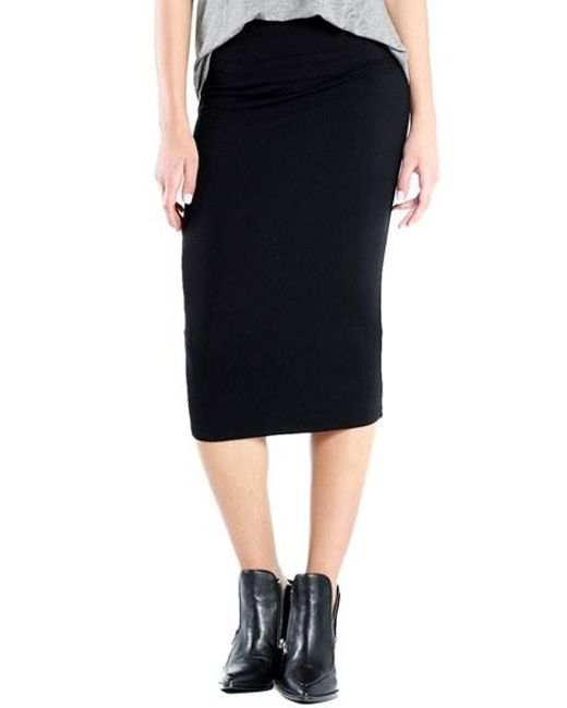 Michael Stars | Black Convertible Jersey Pencil Skirt | Lyst