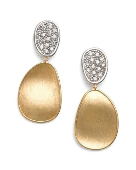 Marco Bicego   Metallic Lunaria Diamond Drop Earrings   Lyst