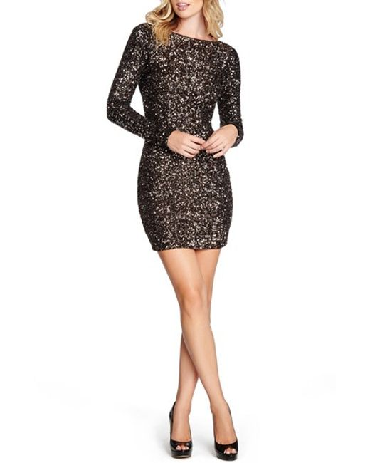 Dress the Population | Metallic Lola Body-con Dress | Lyst
