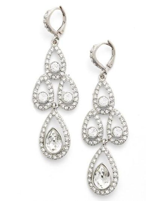 Givenchy | Metallic Crystal Chandelier Drop Earrings | Lyst