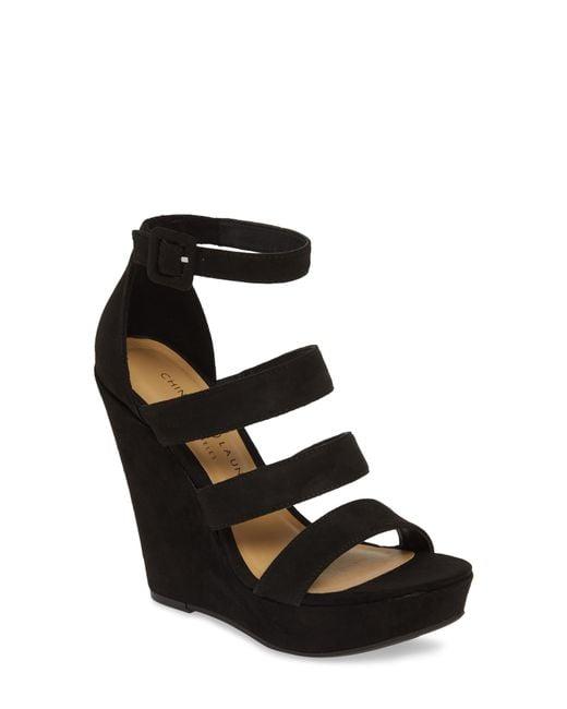 13eea5c11425 Lyst - Chinese Laundry Maneeya Wedge Sandal in Black
