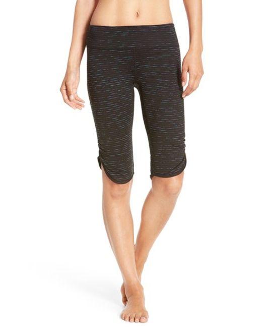 Zella 'live In' Slim Fit Knee Shorts in Black