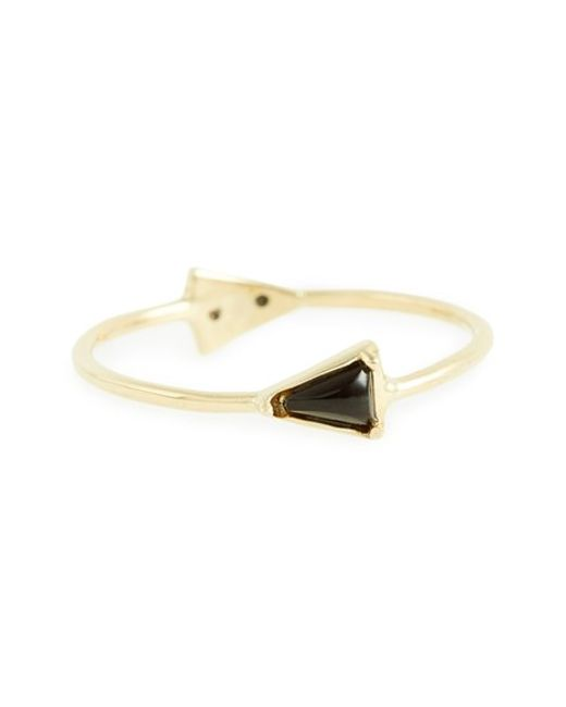 Mociun | Metallic Double Triangle Ring | Lyst