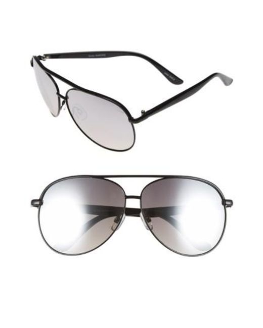 Quay | Black 'macaw' 65mm Aviator Sunglasses for Men | Lyst