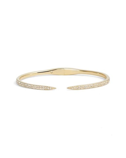 Nadri | Metallic 'tattoo' Pave Hinge Bangle | Lyst