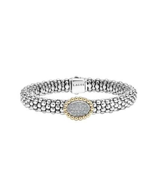 Lagos   Metallic 'caviar' Diamond Bracelet   Lyst