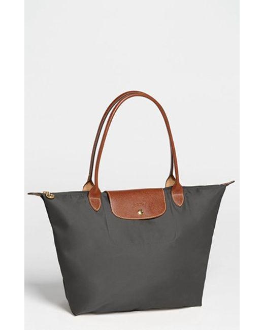 Longchamp | Metallic 'large Le Pliage' Tote | Lyst
