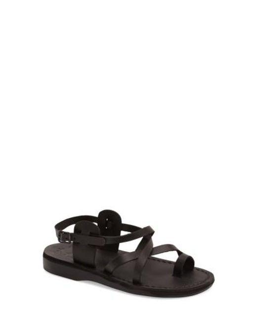 Jerusalem Sandals   Black The Good Shepard Leather Sandals    Lyst