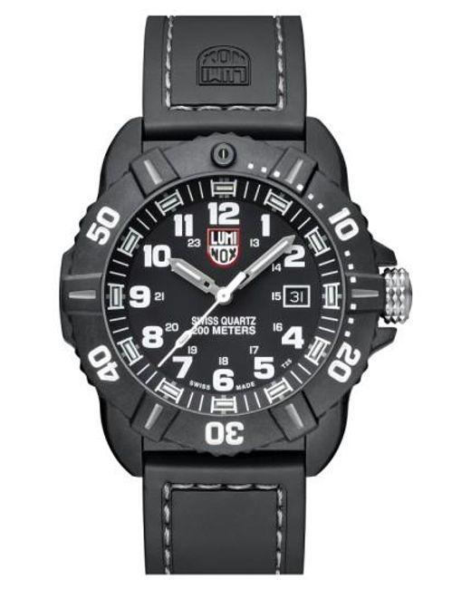 Luminox   Black 'coronado' Rubber Strap Watch for Men   Lyst
