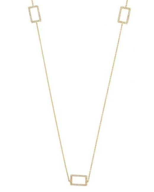 Bony Levy   Metallic Three Rectangle Diamond Station Necklace (nordstrom Exclusive)   Lyst