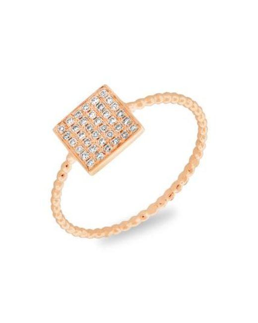 Bony Levy | Metallic Aurora Diamond Pave Square Ring (nordstrom Exclusive) | Lyst