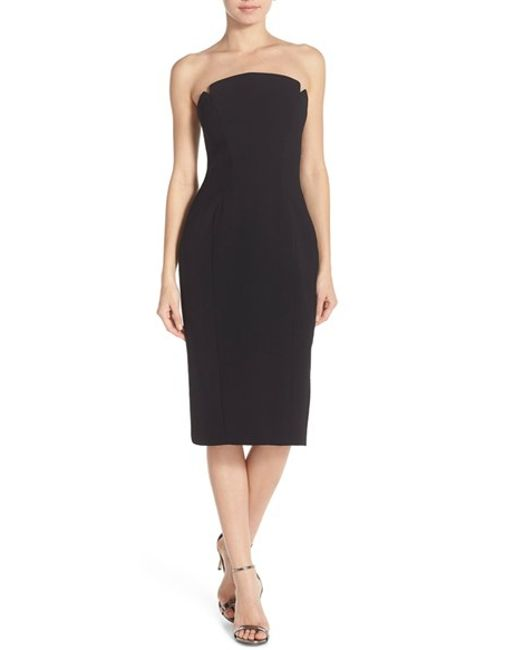 Jill jill stuart Strapless Sheath Dress in Black - Save 66% | Lyst