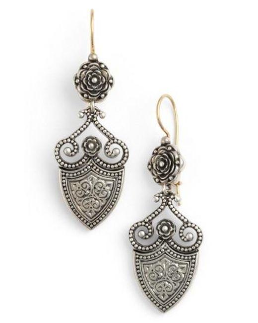 Konstantino | Metallic 'silver Classics' Shield Drop Earrings | Lyst