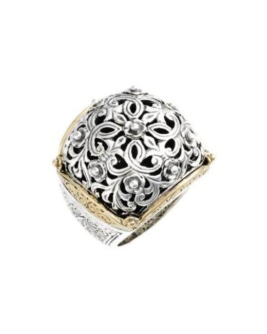 Konstantino | Metallic 'silver & Gold Classics' Filigree Ring | Lyst