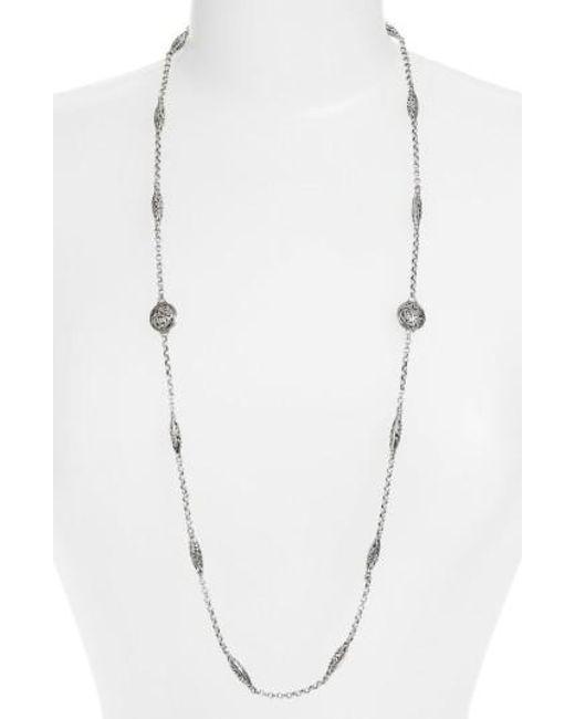 Konstantino | Metallic 'silver Classics' Long Filigree Station Necklace | Lyst