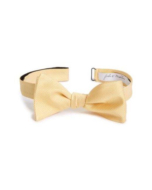 John W. Nordstrom | Metallic John W. Nordstrom Dot Silk Bow Tie for Men | Lyst