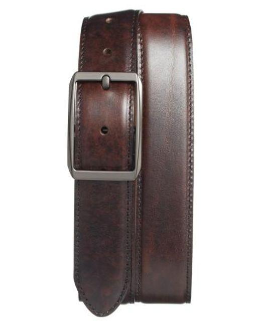 Bosca | Brown Reversible Leather Belt | Lyst
