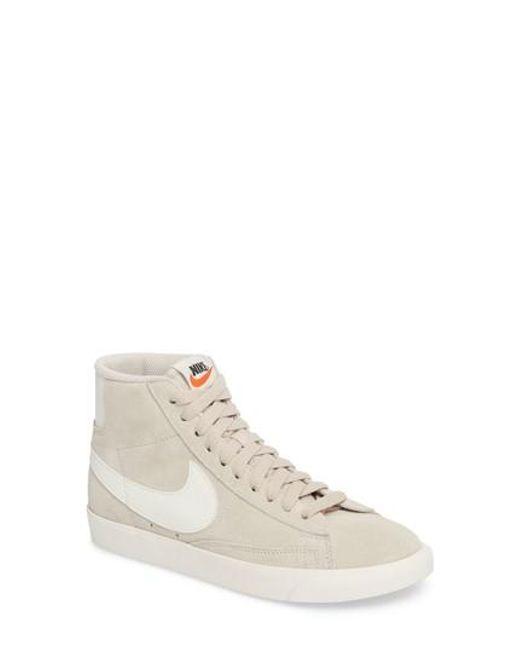 Nike | Natural Blazer Mid Vintage Sneakers | Lyst