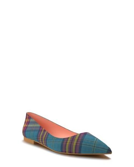 Shoes Of Prey | Blue Pointy Toe Flat | Lyst