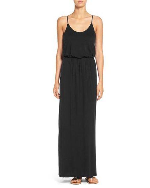 Lush - Black Knit Maxi Dress - Lyst