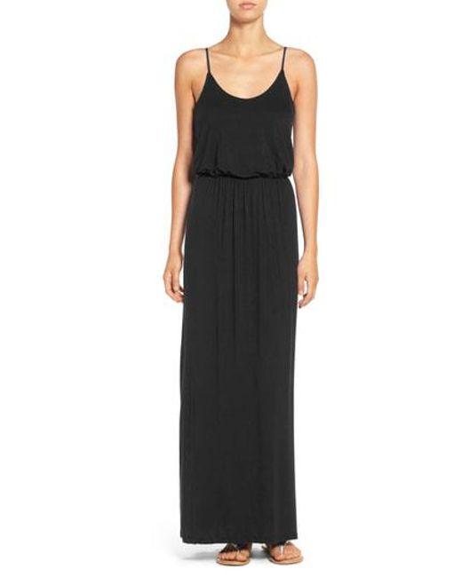 Nordstrom - Black Knit Maxi Dress - Lyst